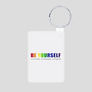 Be Yourself (Rainbow) Aluminum Photo Keychain