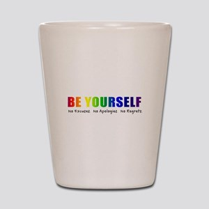 Be Yourself (Rainbow) Shot Glass