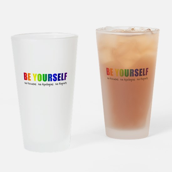 Be Yourself (Rainbow) Drinking Glass