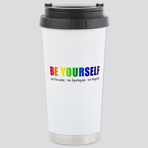 Be Yourself (Rainbow) Stainless Steel Travel Mug