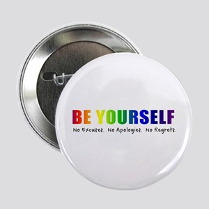 "Be Yourself (Rainbow) 2.25"" Button"