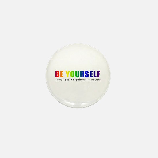 Be Yourself (Rainbow) Mini Button