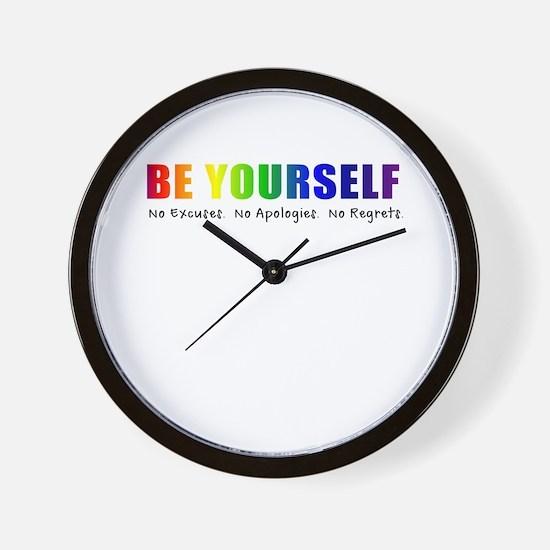 Be Yourself (Rainbow) Wall Clock