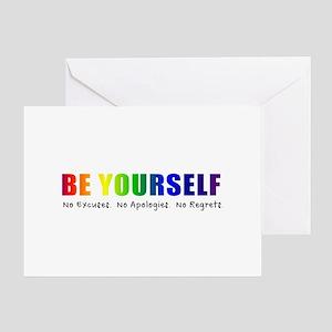 Be Yourself (Rainbow) Greeting Card