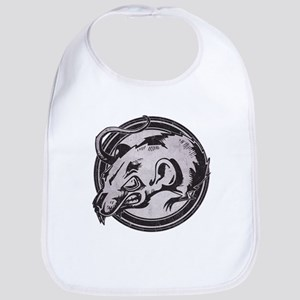 Distressed Wild Rat Stamp Bib