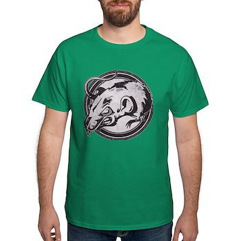 Distressed Wild Rat Stamp Dark T-Shirt