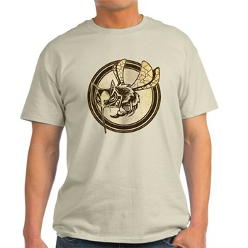 Distressed Wild Wasp Stamp Light T-Shirt