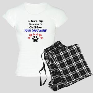 Custom I Love My Brussels Griffon Pajamas