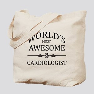 World's Most Awesome Cardiologist Tote Bag