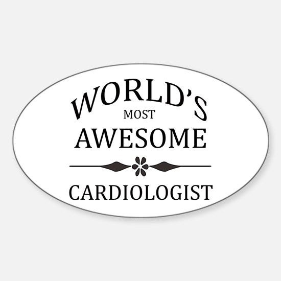 World's Most Awesome Cardiologist Sticker (Oval)