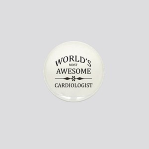 World's Most Awesome Cardiologist Mini Button
