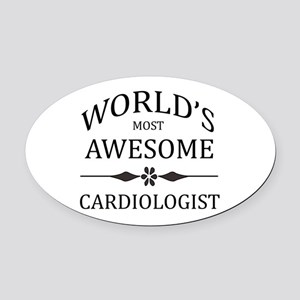 World's Most Awesome Cardiologist Oval Car Magnet