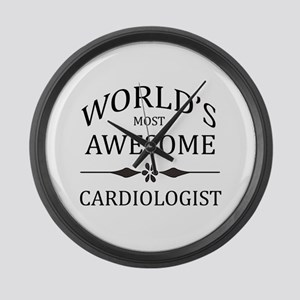 World's Most Awesome Cardiologist Large Wall Clock