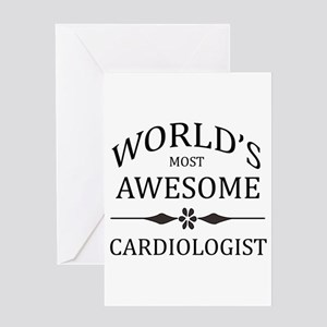 World's Most Awesome Cardiologist Greeting Card