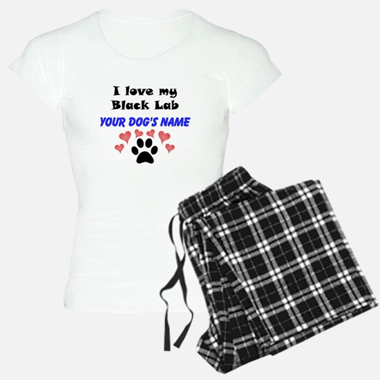 Custom I Love My Black Lab Pajamas