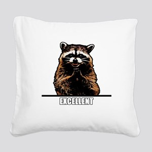 Evil Raccoon Square Canvas Pillow