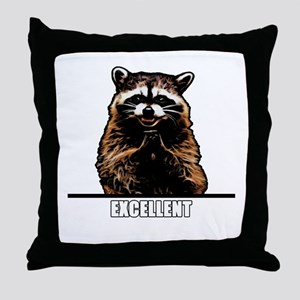 Evil Raccoon Throw Pillow