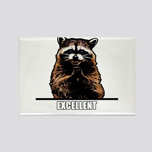 Evil Raccoon Rectangle Magnet