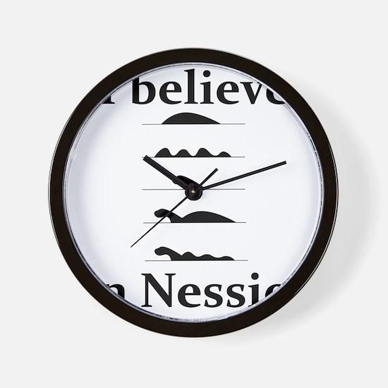 I Believe in Nessie Wall Clock