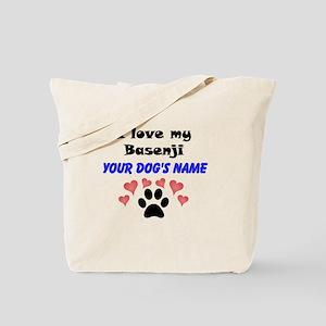 Custom I Love My Basenji Tote Bag