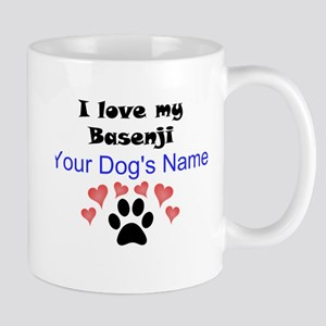 Custom I Love My Basenji Mug
