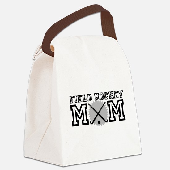 Field Hockey Mom Canvas Lunch Bag