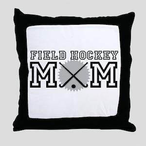 Field Hockey Mom Throw Pillow