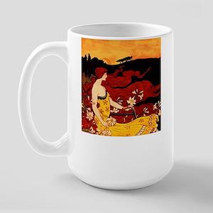 Orange Beauty Large Mug