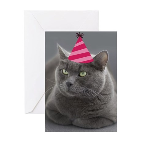 Russian Blue Birthday Card Greeting Card By Focusforacause