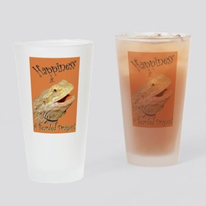 Happiness is a Bearded Dragon. Drinking Glass