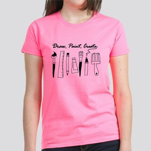 Draw Paint Create Women's Dark T-Shirt