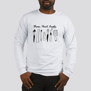 Draw Paint Create Long Sleeve T-Shirt