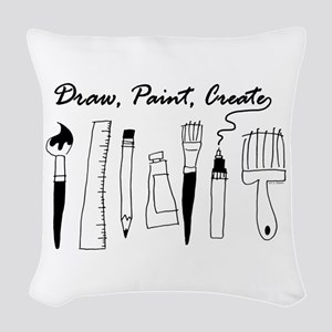 Draw Paint Create Woven Throw Pillow