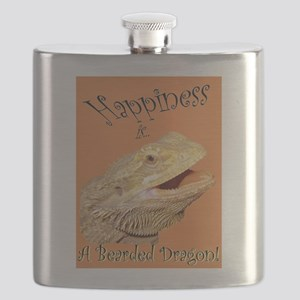Happiness is a Bearded Dragon. Flask