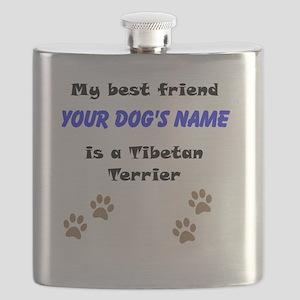 Custom Tibetan Terrier Best Friend Flask