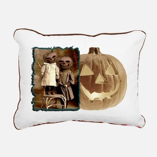 Pumpkin Head Rectangular Canvas Pillow