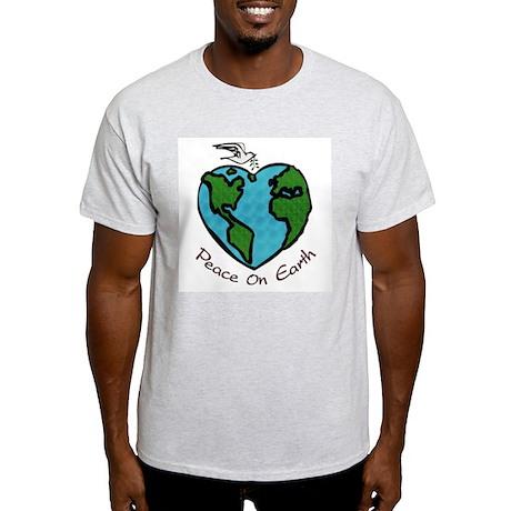 Peace on Earth Ash Grey T-Shirt
