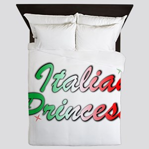 Italian Princess Text Design Queen Duvet