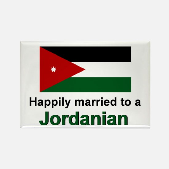 Happily Married To A Jordanian Rectangle Magnet