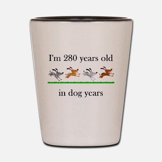 40 birthday dog years 1 Shot Glass