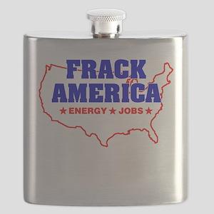 Frack America Energy Jobs Flask