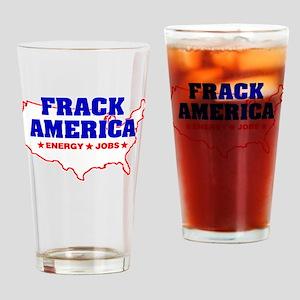 Frack America Energy Jobs Drinking Glass