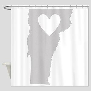 Heart Vermont Shower Curtain