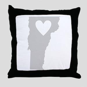 Heart Vermont Throw Pillow