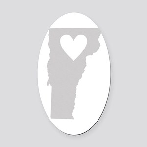 Heart Vermont Oval Car Magnet