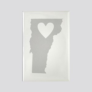 Heart Vermont Rectangle Magnet