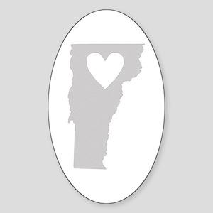 Heart Vermont Sticker (Oval)