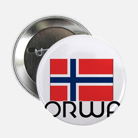 "I HEART NORWAY FLAG 2.25"" Button"