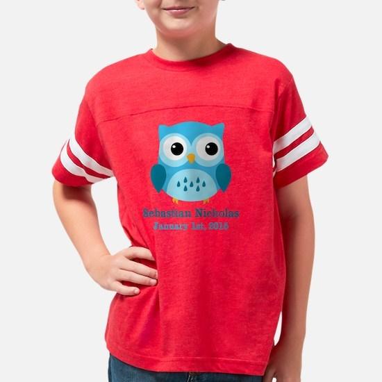 Blue Owl CUSTOM Baby Name  Bi Youth Football Shirt