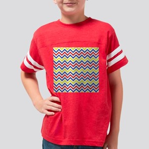Red, Blue, and Yellow Chevron Youth Football Shirt